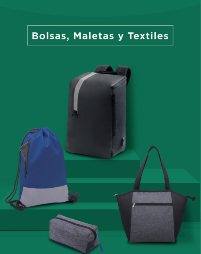 catalogo de bolsas y maletas textiles